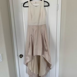 Eliza J Champagne and Cream Gown